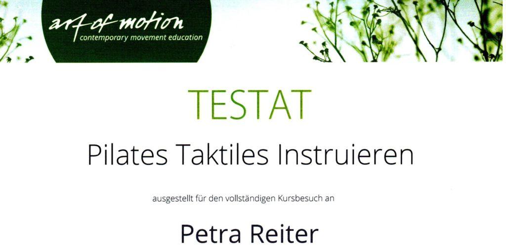 Zertifikat Taktiles Unterrichten 1024x505 Pilates News
