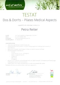 Zertifikat DosDonts pdf 212x300 Zertifikat über Dos & Dontts   Medizinische Aspekte im Pilates