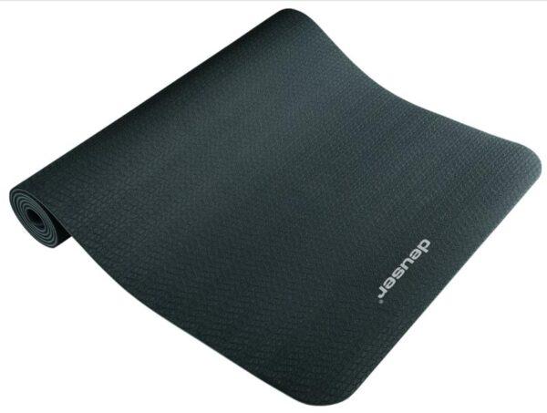 Deuser Yogamatte 6mm schwarz/grau